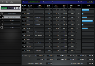 Click to display the Alesis DM5 Drum Set Buff Editor