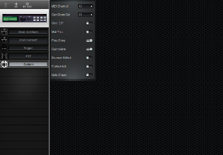 Click to display the Alesis DM5 System Editor