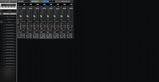 Click to display the Alesis QS 6.2 Mix Editor