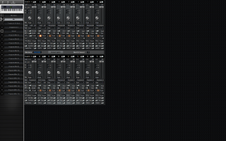 Click to display the Alesis QS 7.1 Mix Editor