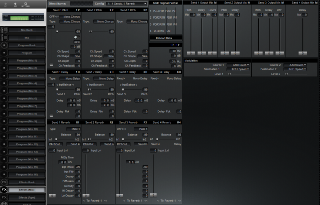 Click to display the Alesis QuadraSynth S4 Module Effects (Mix) Editor