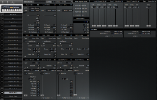 Click to display the Alesis QuadraSynth S4 Rack Effects (Mix) Editor