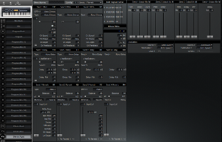 Click to display the Alesis QuadraSynth S4 Rack Effects (Pgm) Editor