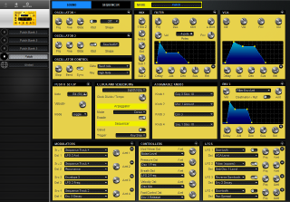 Click to display the Dave Smith Mopho Patch - Patch Editor