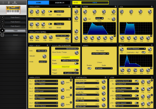 Click to display the Dave Smith Mopho Kbd Patch - Patch Editor