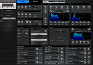 Click to display the Dave Smith Mopho SE Patch - Patch Editor