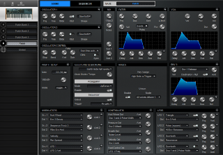 Click to display the Dave Smith Mopho X4 Patch - Patch Editor