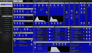 Click to display the Dave Smith Poly Evolver Rack Patch - Patch Editor