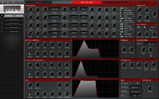 Click to display the Dave Smith Pro 2 Patch - OSC/VCF/VCA Editor