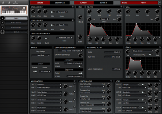 Click to display the Dave Smith Prophet 08 Kbd Patch - Patch Editor
