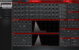 Click to display the Dave Smith Prophet 12 Kbd Patch - OSC/VCF/VCA Editor