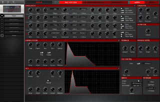 Click to display the Dave Smith Prophet 12 Mod Patch - OSC/VCF/VCA Editor