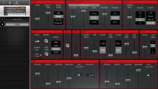 Click to display the Encore Electronics Jupiter-8 Patch Editor