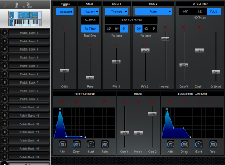 Click to display the Encore Electronics Moog Source Patch Editor