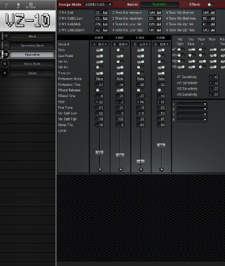 Click to display the Hohner HS-2 Operation Editor