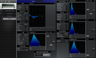 Click to display the Korg 707 Patch Editor