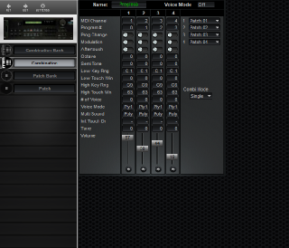 Click to display the Korg DSM-1 Combination Editor