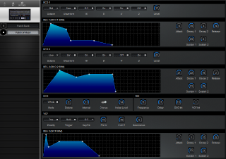 Click to display the Korg EX-800 Patch (Virtual) Editor