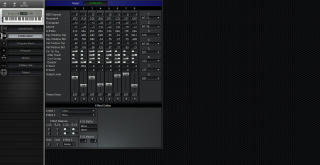 Click to display the Korg N364 Combination Editor