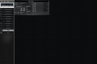 Click to display the Korg N5 Effect Editor