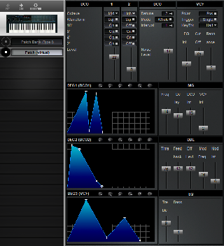 Click to display the Korg Poly-800 II Patch (virtual) Editor