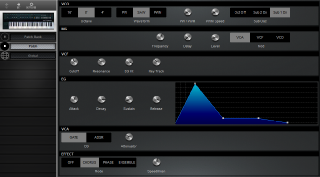 Click to display the Korg Polysix Patch Editor