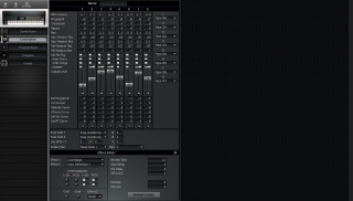 Click to display the Korg T2 Combination Editor
