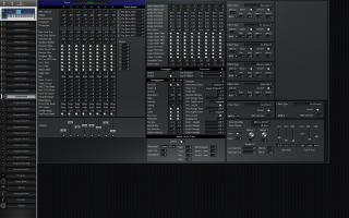 Click to display the Korg Triton Extreme 76 Combination Editor