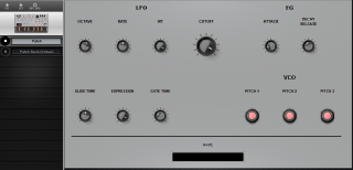 Click to display the Korg Volca Bass Patch Editor