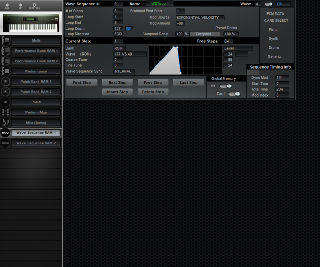 Click to display the Korg Wavestation Wave Sequence RAM 1 Editor