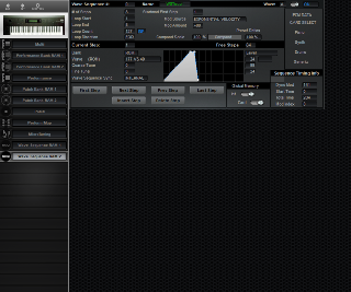 Click to display the Korg Wavestation Wave Sequence RAM 2 Editor