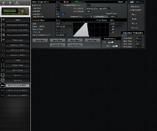 Click to display the Korg Wavestation A/D Wave Sequence RAM 1 Editor