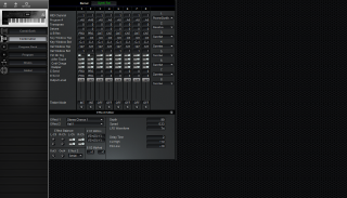 Click to display the Korg X3 Combination Editor