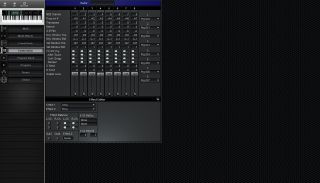 Click to display the Korg X5D Combination Editor