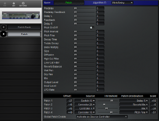 Click to display the Lexicon LXP-15 Patch -  Editor