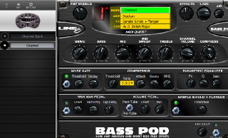 Click to display the Line 6 Bass POD Channel Editor