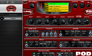 Click to display the Line 6 POD (V.2) Channel Editor