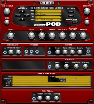 Click to display the Line 6 Pocket POD Channel Editor