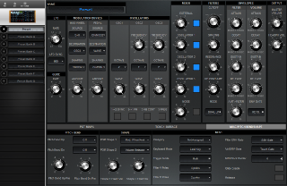 Click to display the Moog Voyager Preset - Misc/Pitch Bend/Shape Editor