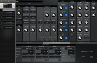 Click to display the Moog Voyager Preset - Touch Surface Editor