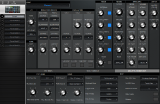 Click to display the Moog Voyager RME Preset - Misc/Pitch Bend/Shape Editor