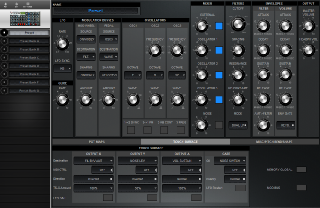 Click to display the Moog Voyager RME Preset - Touch Surface Editor