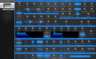 Click to display the Novation Bass Station II Patch Editor