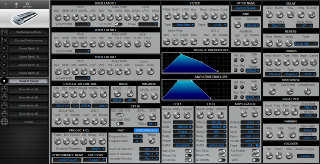 Click to display the Novation KS4 Current Sound Editor