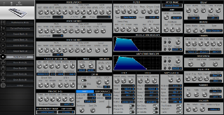 Click to display the Novation KS5 Current Sound Editor