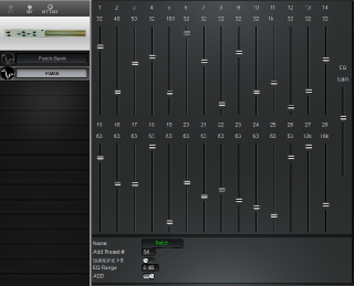 Click to display the Peavey AEQ2800 Patch Editor