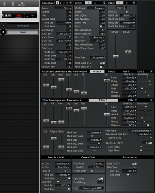Click to display the Peavey Spectrum Bass II (Old ID) Patch Editor
