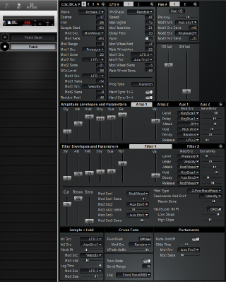 Click to display the Peavey Spectrum Bass II Patch Editor