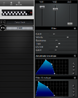 Click to display the Peavey Spectrum Filter Patch Editor