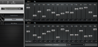 Click to display the Rane MPE-14 Patch Editor